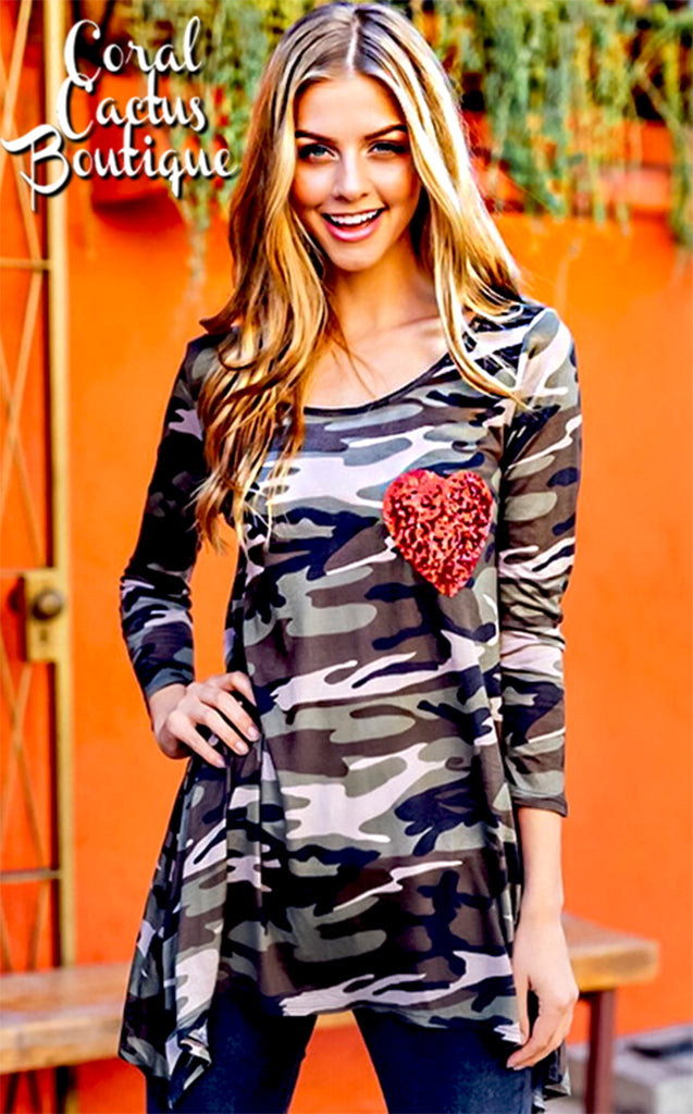 Wild at Heart Camo Tee, MEDIUM