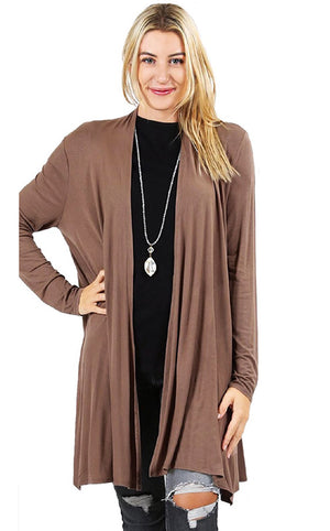Wrap Me Up Mocha Cardigan, MED & LG
