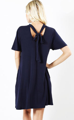 Oh What A Feeling Navy Knit Dress, S-XL