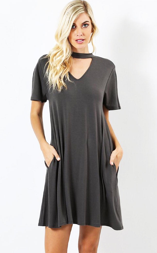 Oh What A Feeling Grey Knit Dress, S-XL