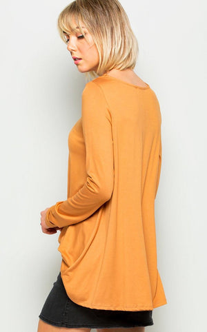 z Picture Perfect Apricot Tee Long Sleeve