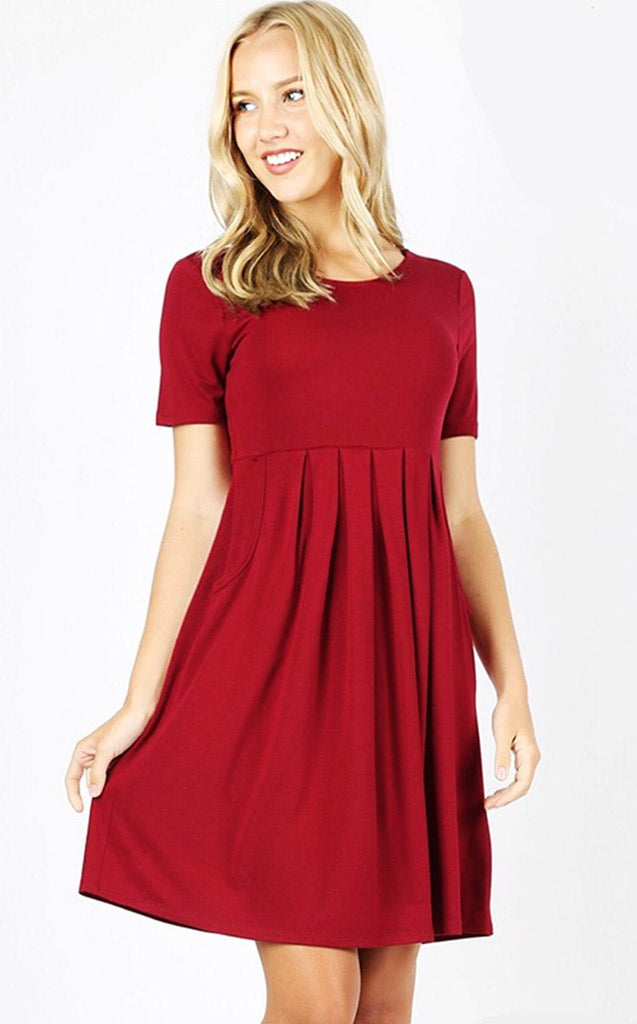 Feeling Pretty Cabernet Knit Dress, S-XL