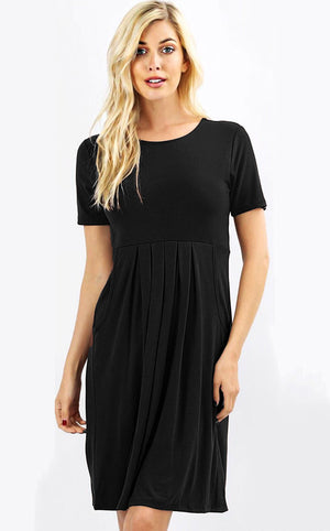 Feeling Pretty Black Knit Dress, SMALL-3X!!
