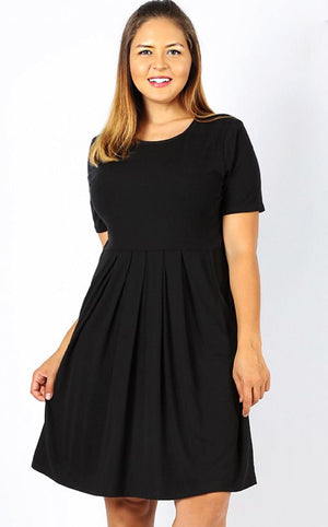 Feeling Pretty Black Knit Dress, S-3X! *WEEKLY DEAL*