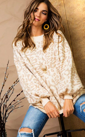 Not A Dream Cheetah Sweater, S-3X!
