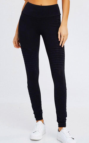 Look At Me Now Black Moto Leggings