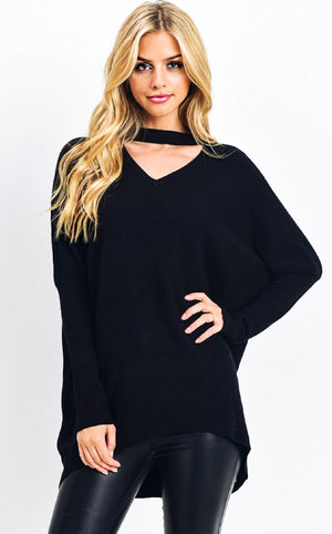 VIP Status Black Sweater