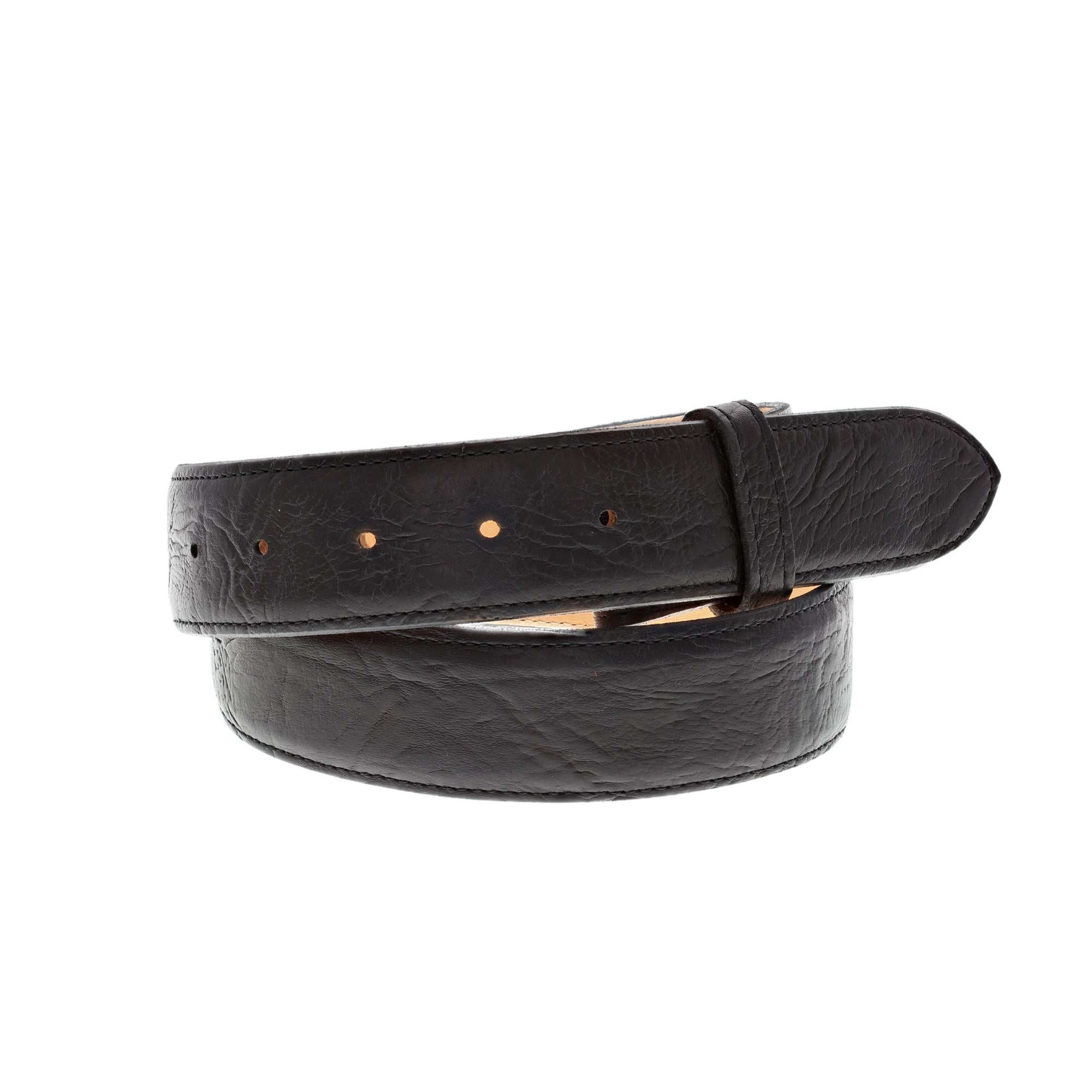"1 1/2"" Straight Bull Shoulder Stitched Edge Belt"