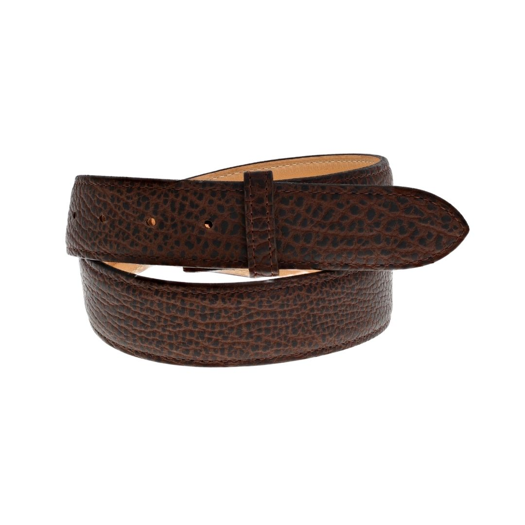 "1 1/2"" Straight American Pebble Bison Belt"