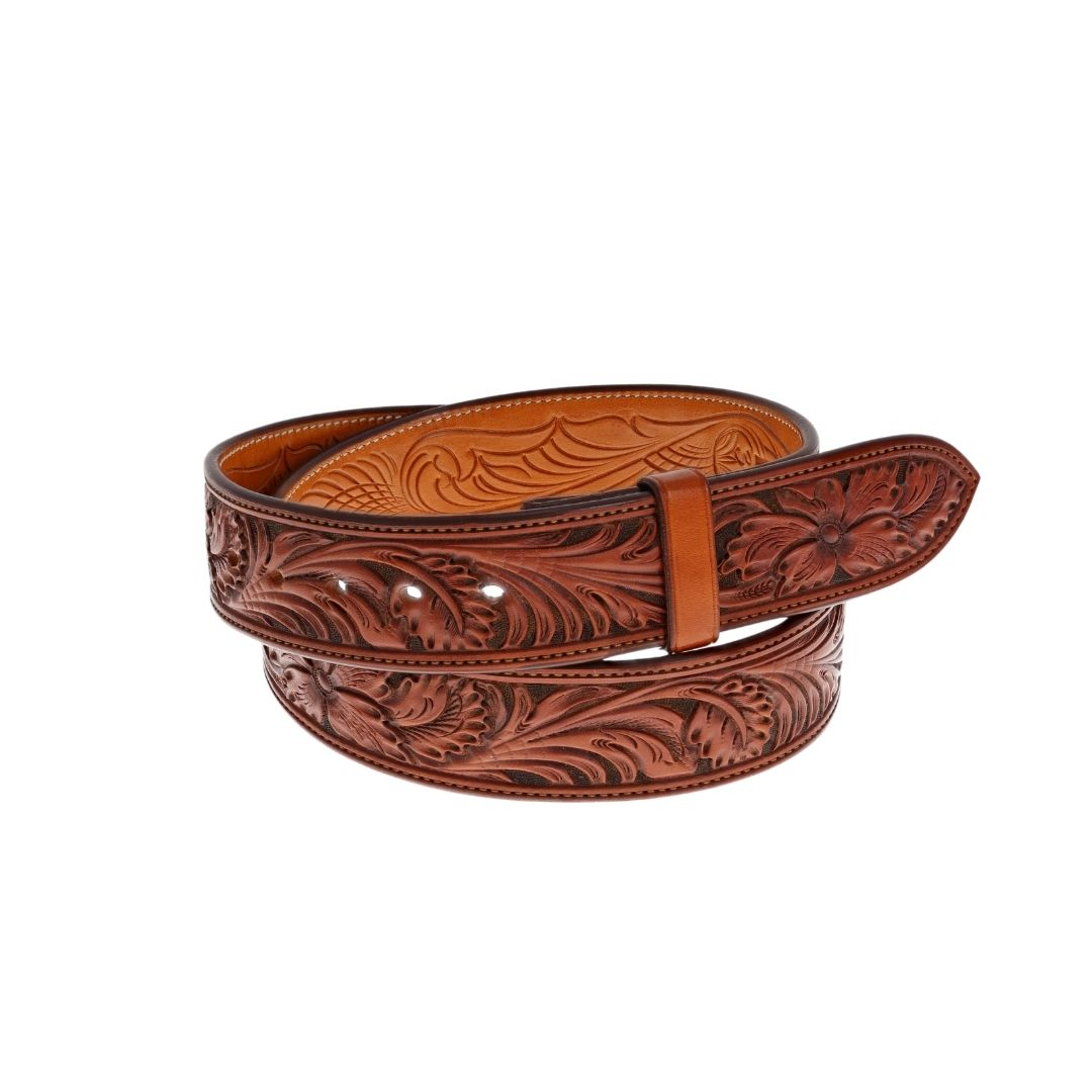 "1 1/2"" STR Premium Floral Hand Tooled"