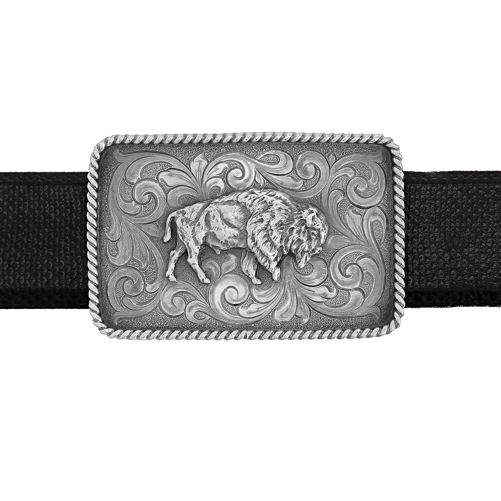 Bowie 2000 Sterling Trophy Buckle with Buffalo