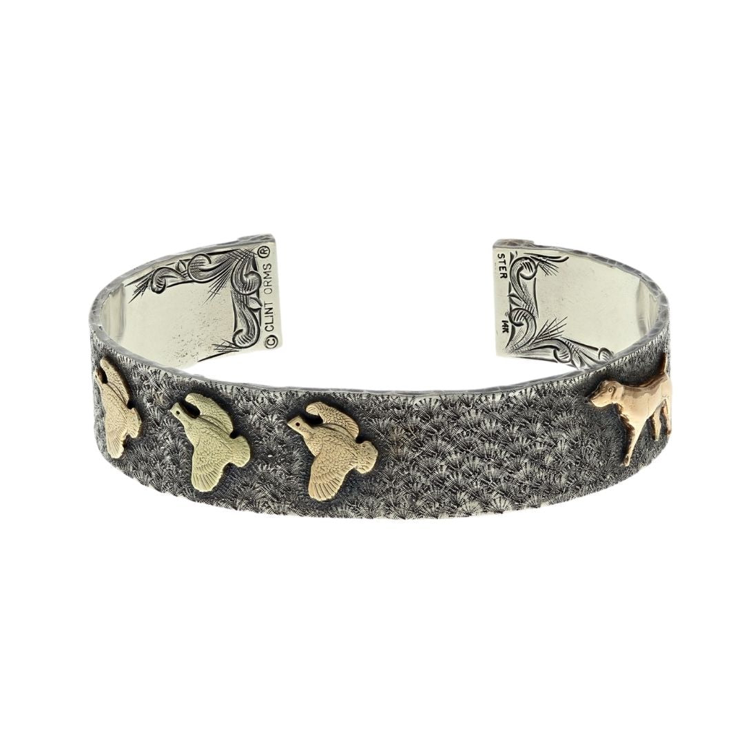 Bracelet 1602 Triple Gold Bird Dog Flush Quial Bracelet