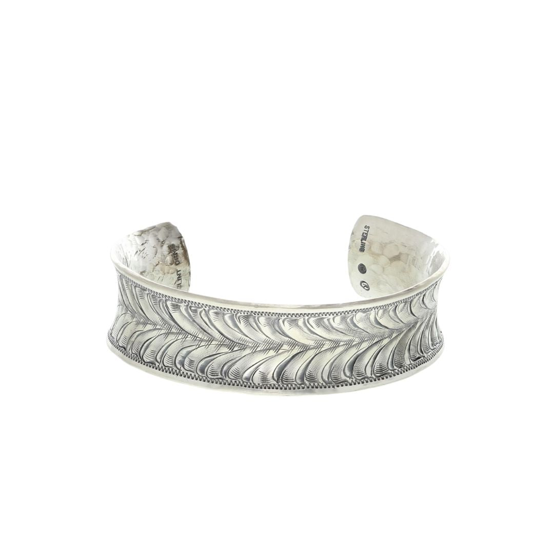 Bracelet 1891 Sterling Silver Engraved Double Leaf