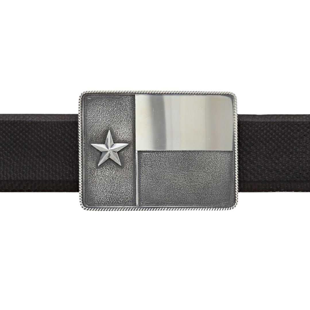 Brandes 1810 Sterling Silver Texas Flag Buckle