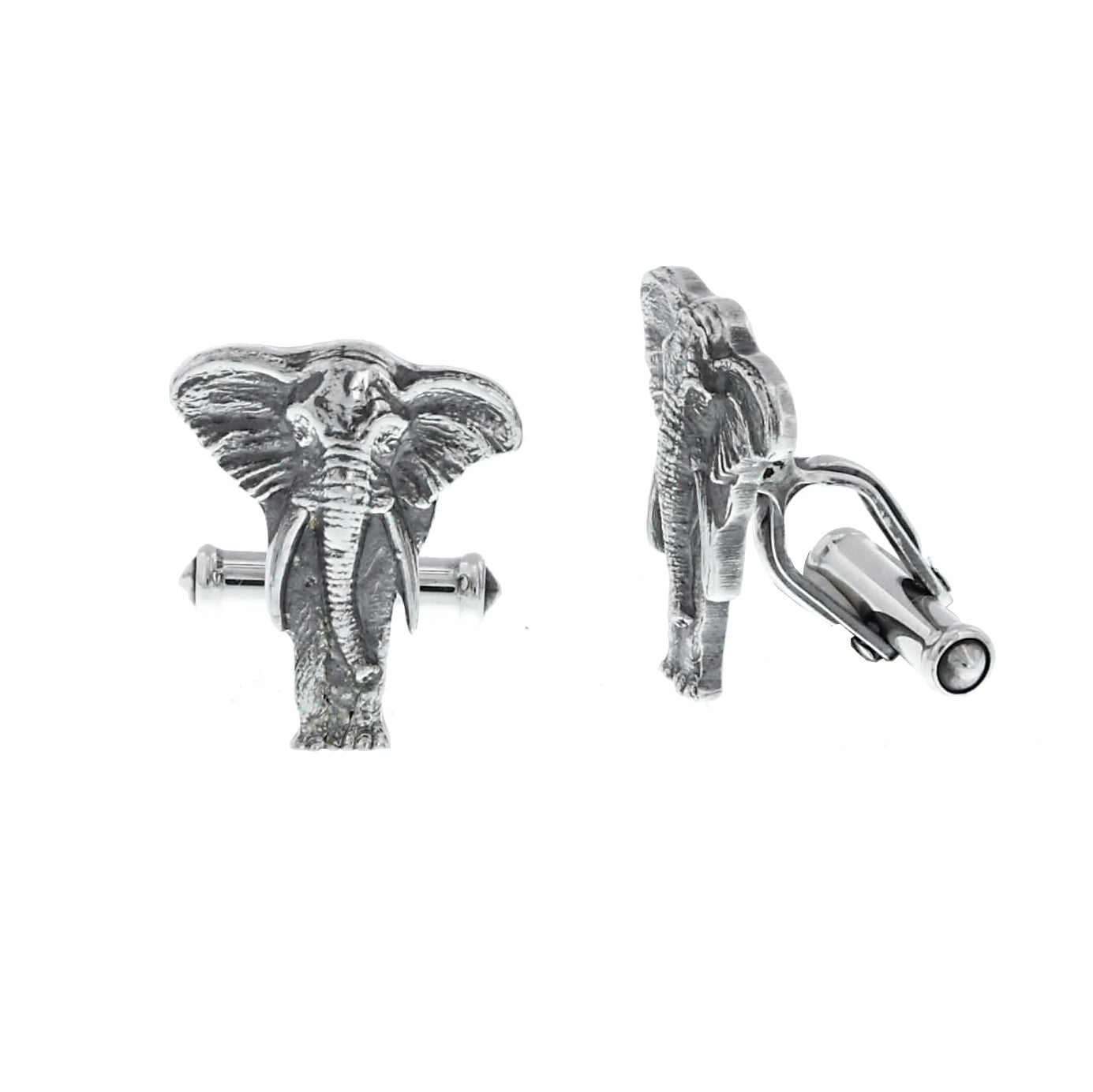 Cuff Links 2036 Sterling African Elephant