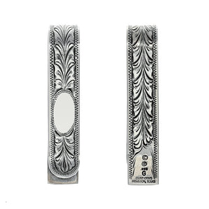 Folded 1800 Engraved Initial Money Clip
