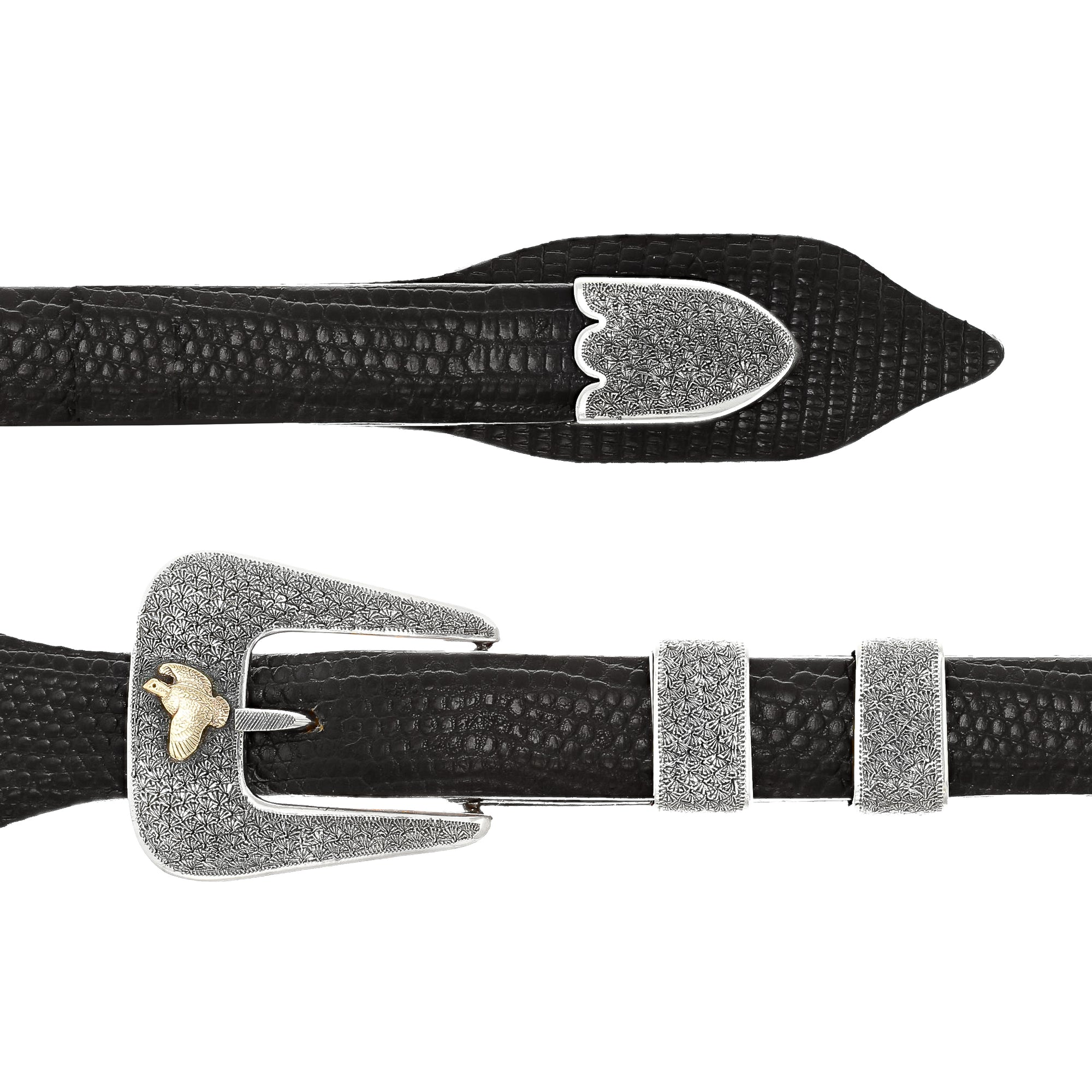 Houston 1600 Quail in Flight Buckle Set