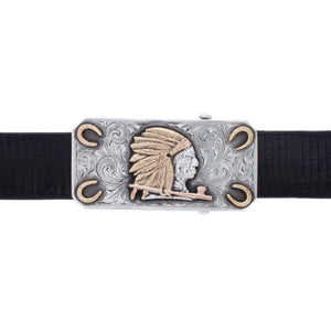 Navarro 1801 Sterling Silver Indian Trophy Buckle