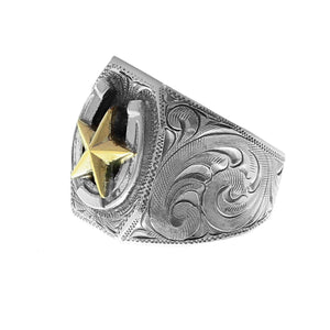 Ring 1816 Gold Star with Horseshoe