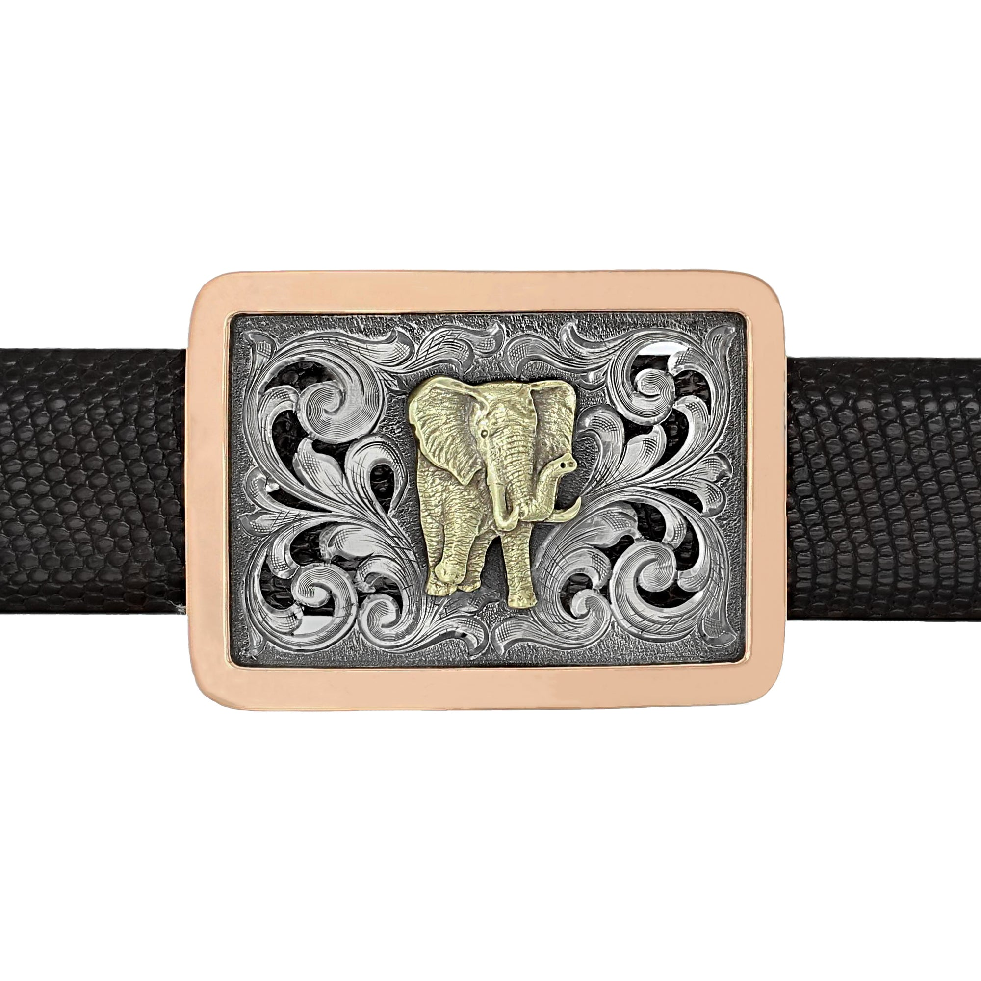Sabine 1819 Gold Elephant  Trophy Buckle
