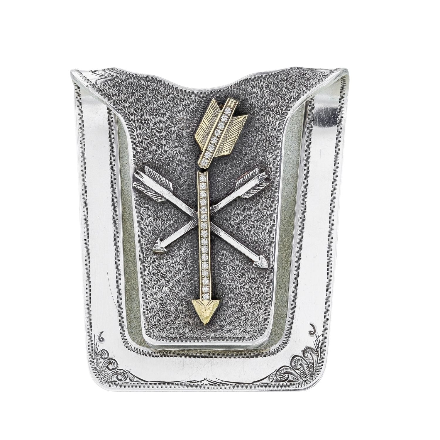 San Augustine 1601 Diamond Peace Arrow Money Clip