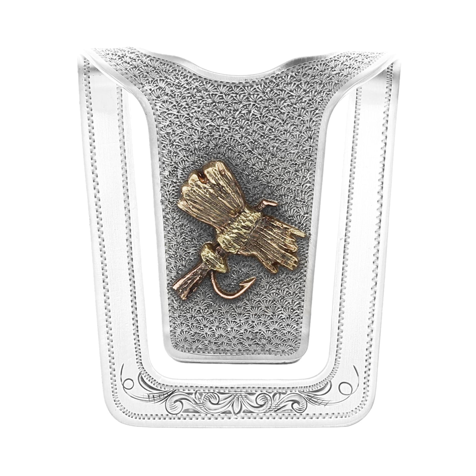San Augustine 1603 Gold Fly Money Clip