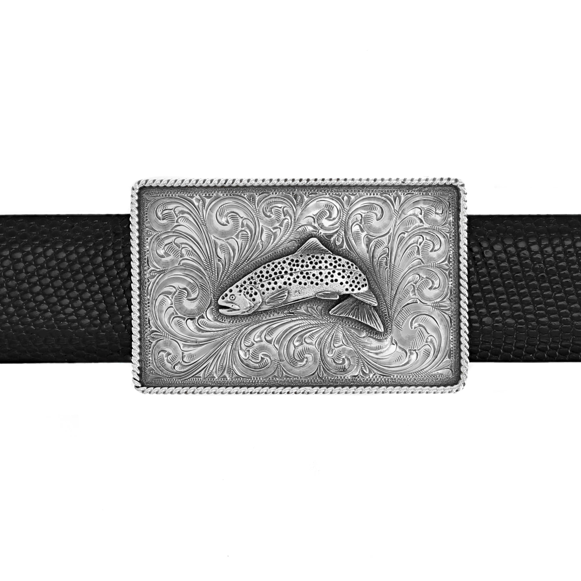 Silver Creek 1804 Silver Trout Trophy Buckle