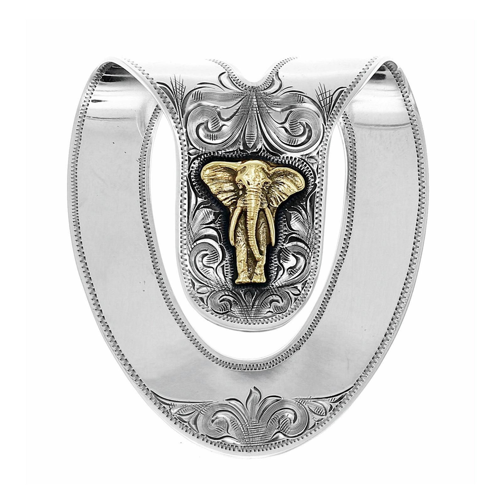 San Saba 1813 Gold Elephant Money Clip