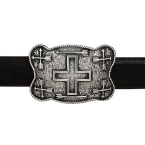 Wichita 1803 Large Scalloped Cross and Arrows Trophy Buckle