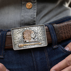 Zapata 1410 Hammered Chief Trophy Buckle