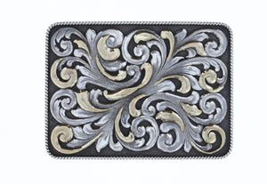 Brandes 1805 Sterling and 14 Karat Gold Overlay Trophy Buckle
