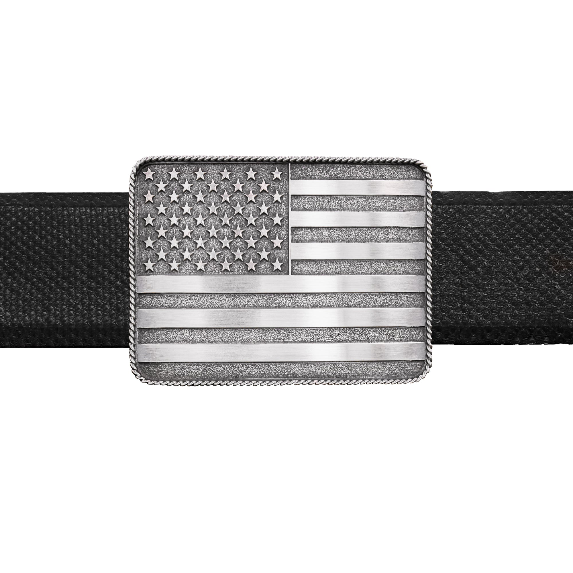 Brandes 1806 Sterling American Flag Trophy Buckle