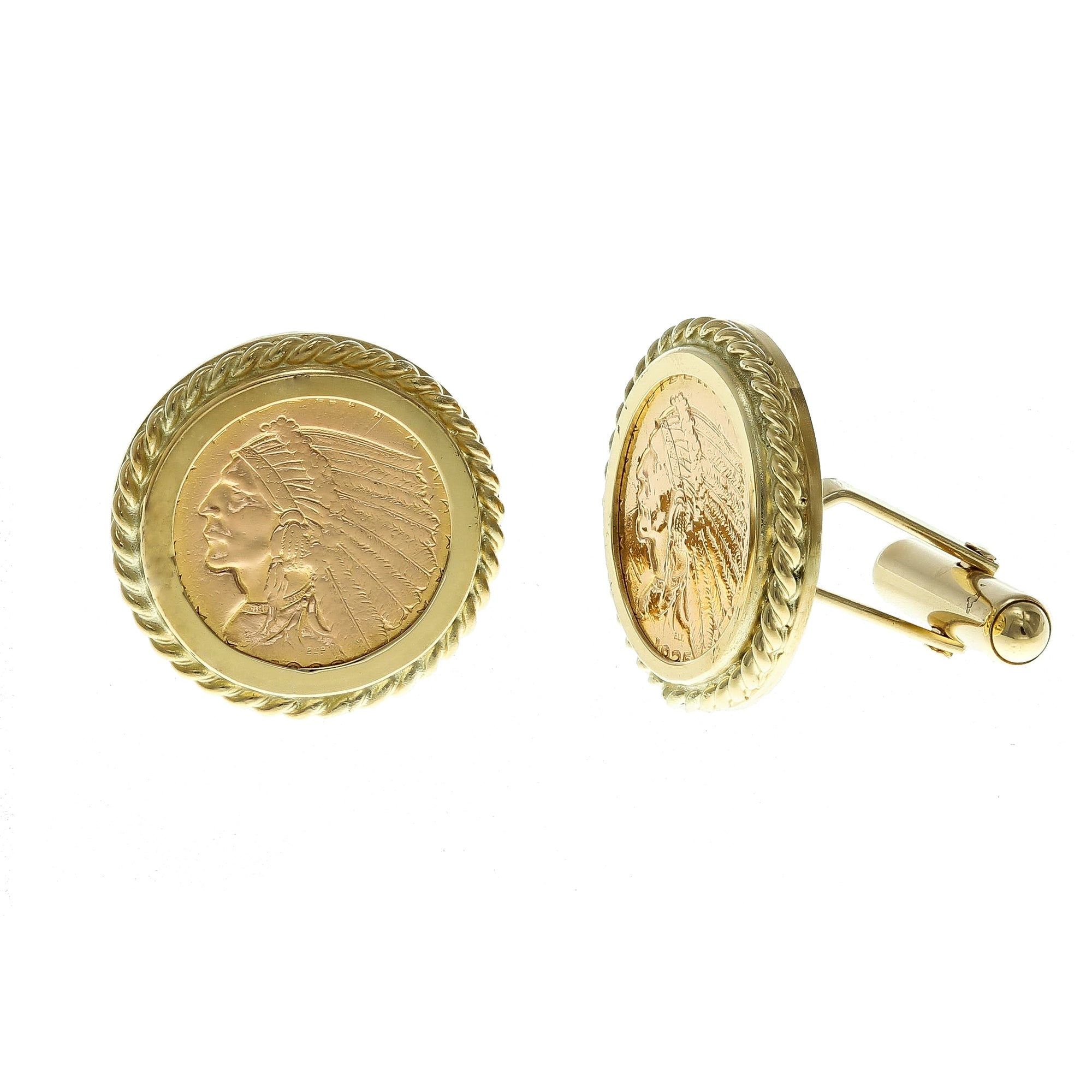 Cuff Links 1832 Indian Gold Coin