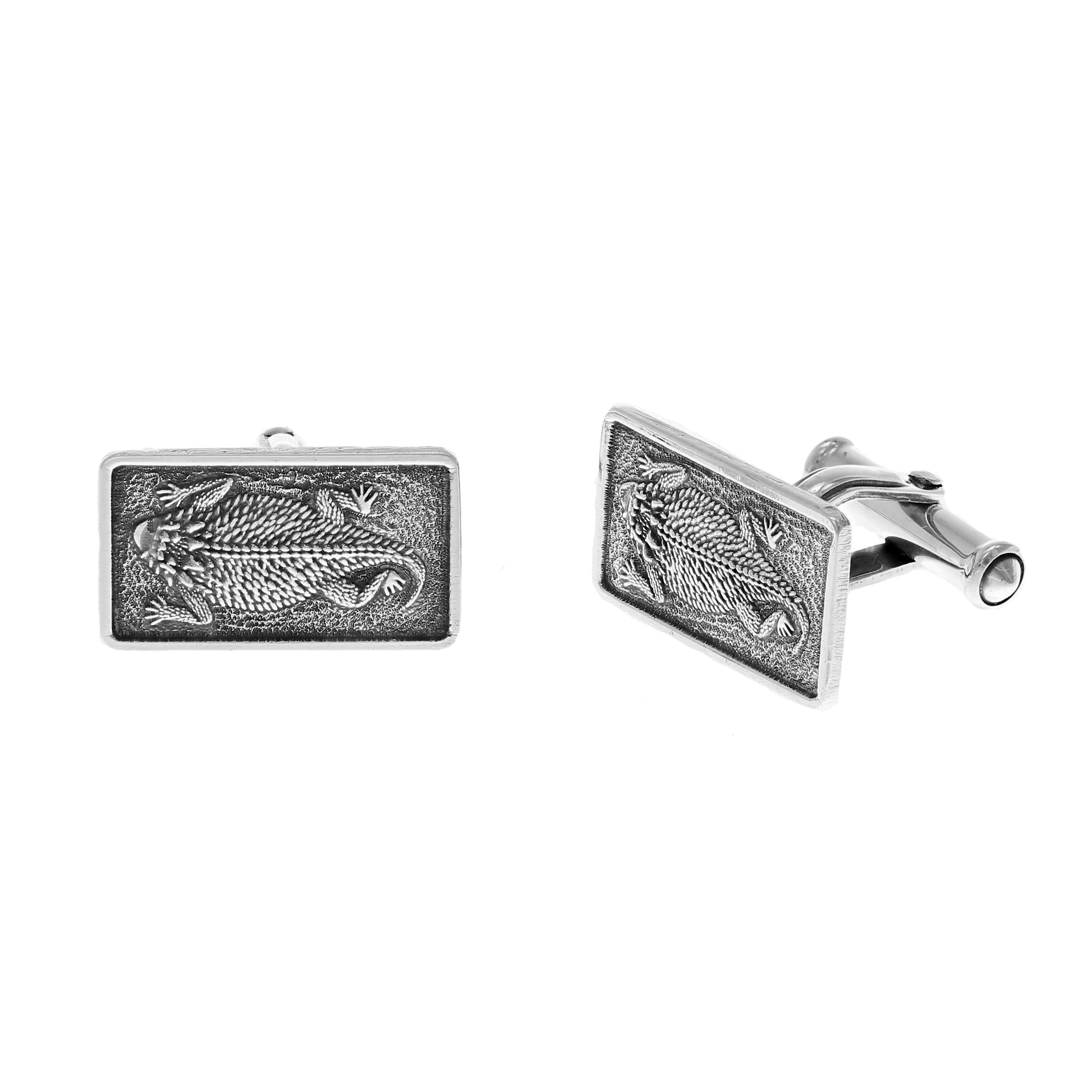 Cuff Links 2044 Sterling Horned Toads