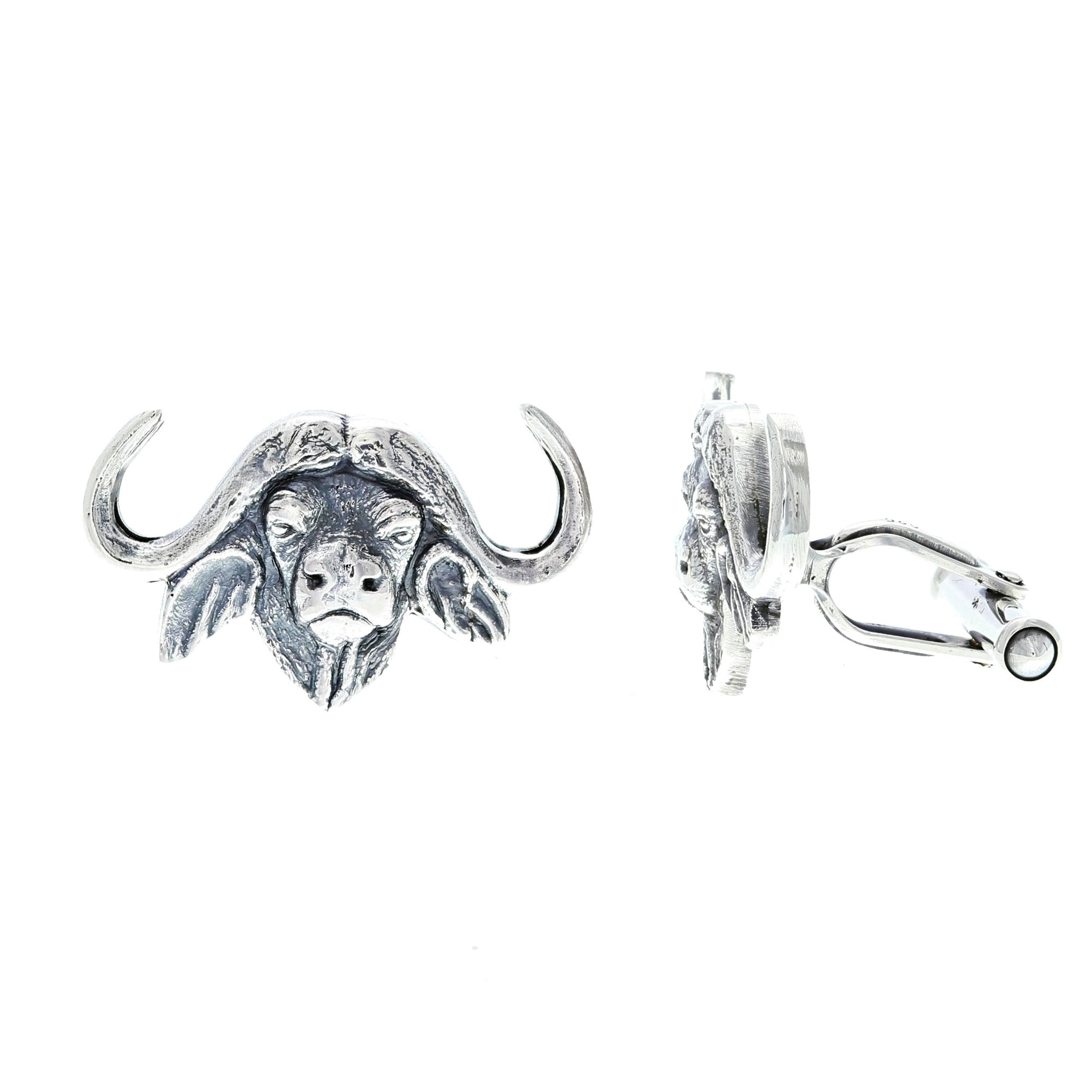 Cuff Links 2027 Sterling Cape Buffalo