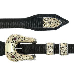 Duval 1803 Sterling Silver & Gold Buckle Set
