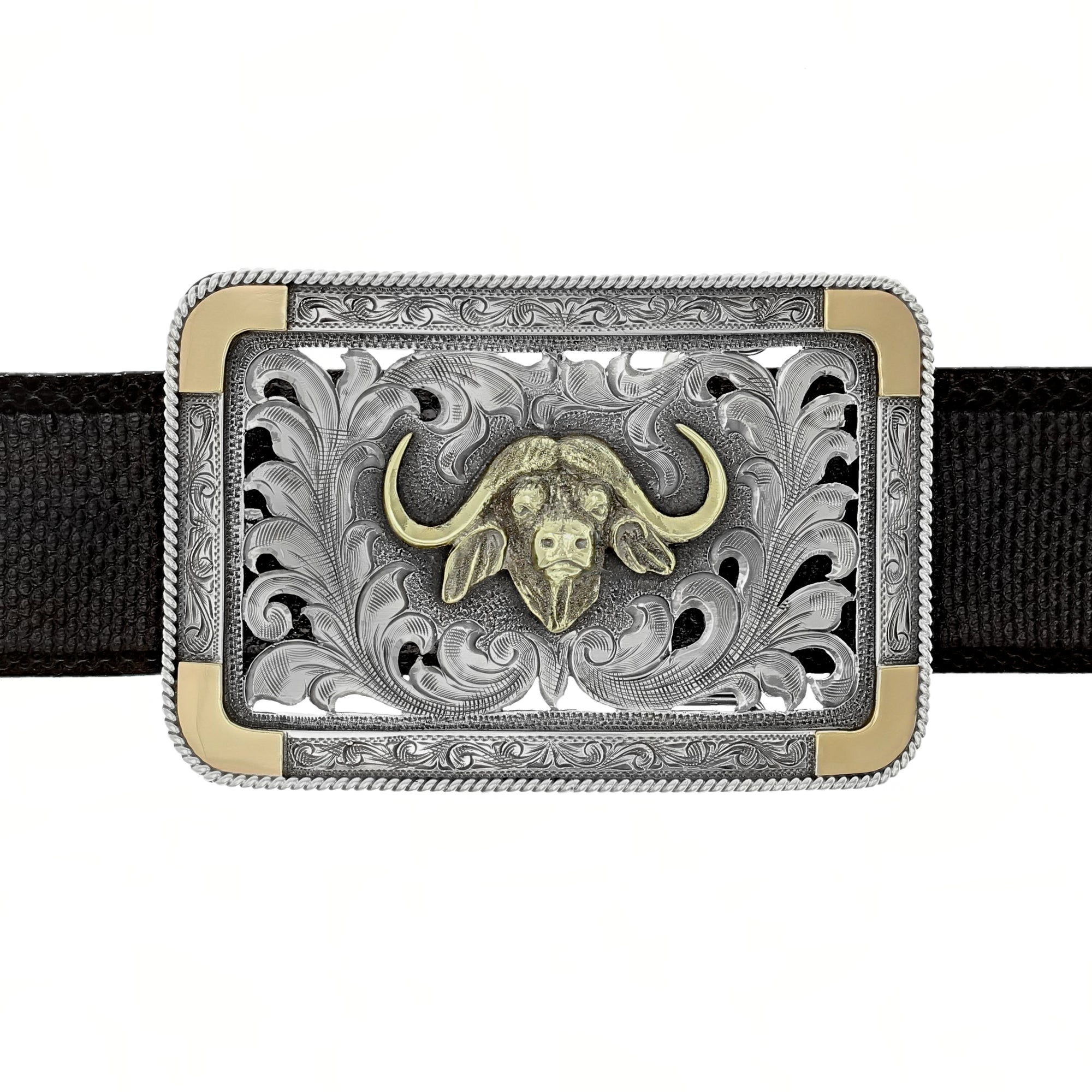 Eastland 1802 Gold Cape Buffalo Trophy Buckle
