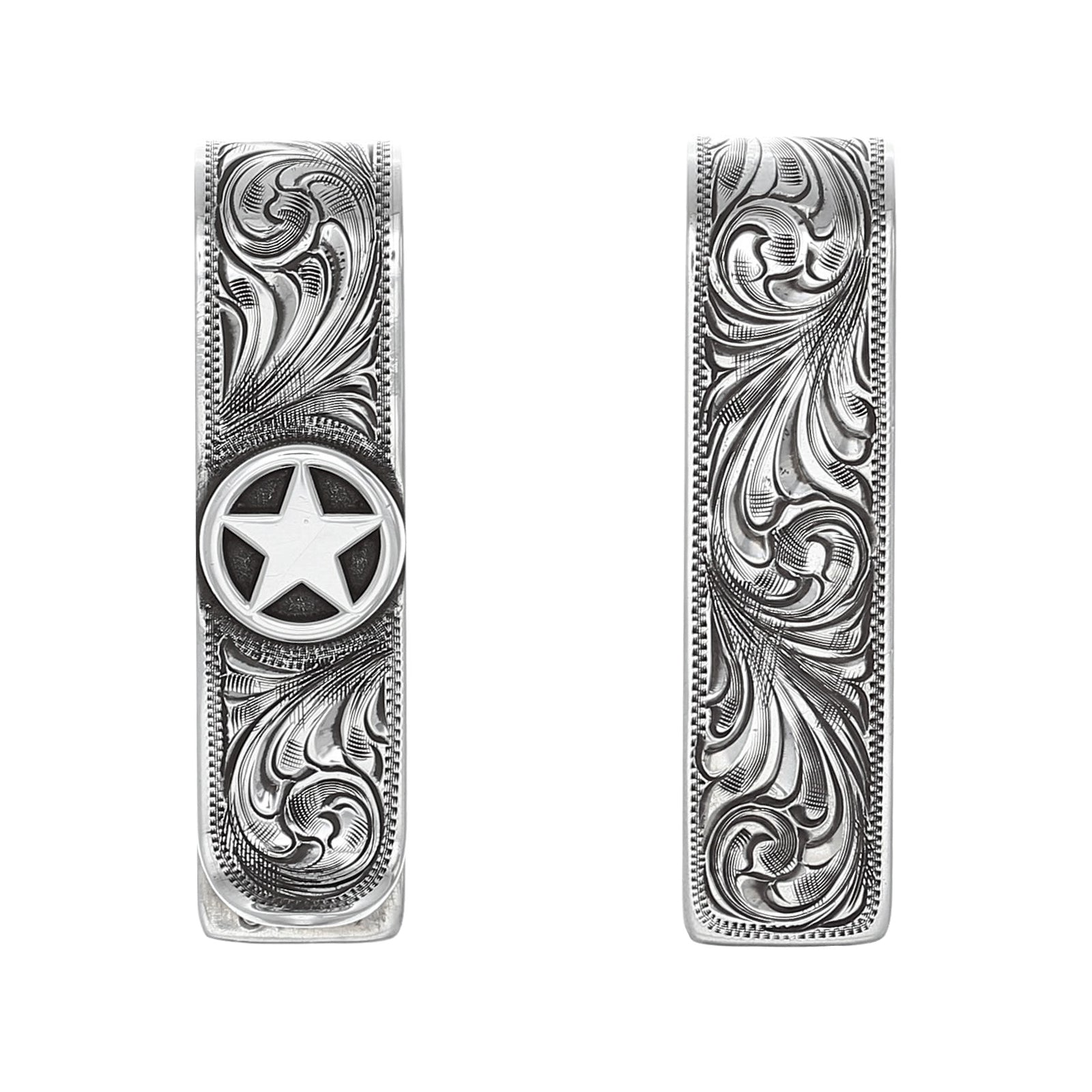 Folded 1854 Sterling Star Money Clip
