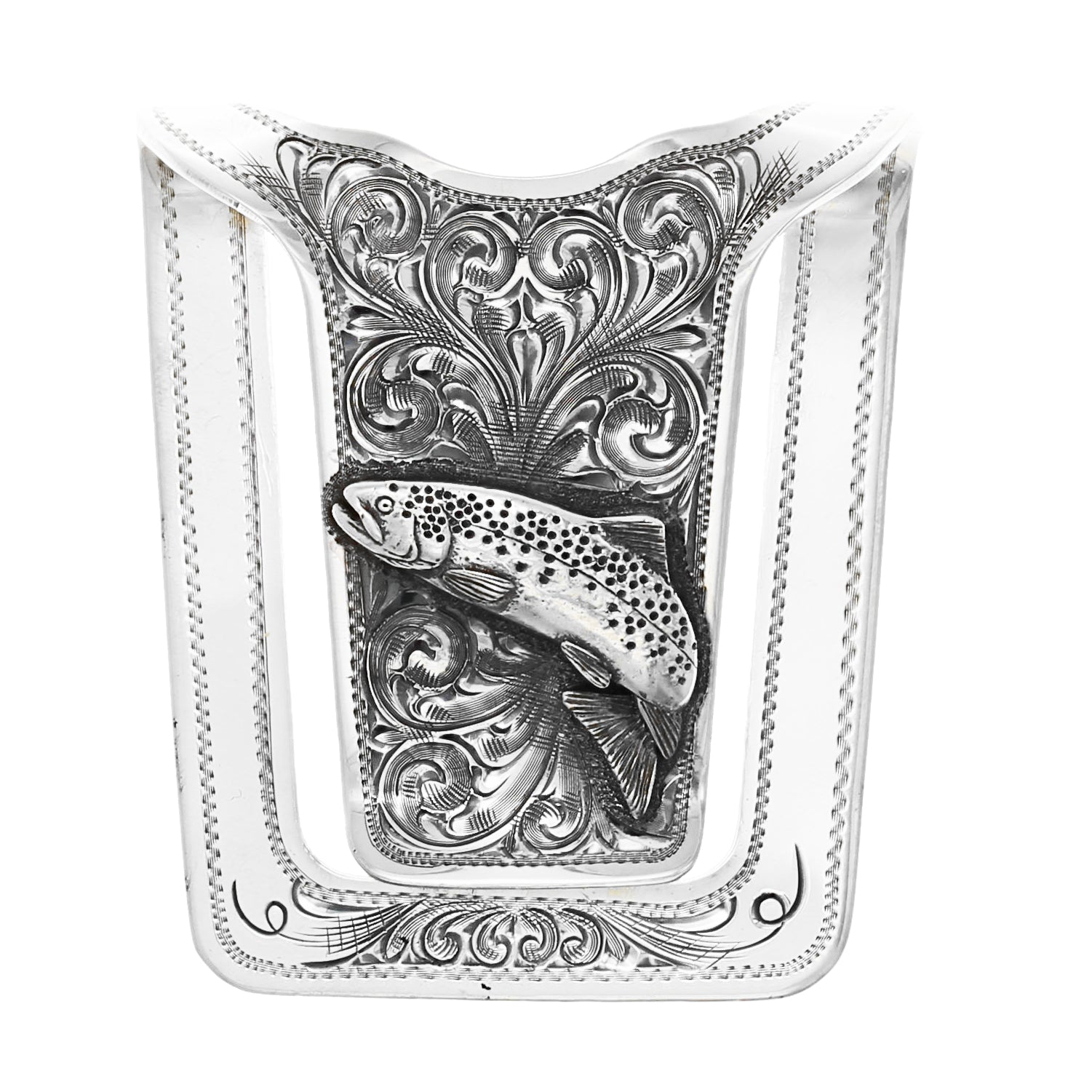 Silver Creek 1811 Silver Trout Money Clip