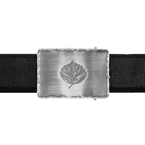 Starr 1814 Sterling Trophy buckle with Aspen Leaf