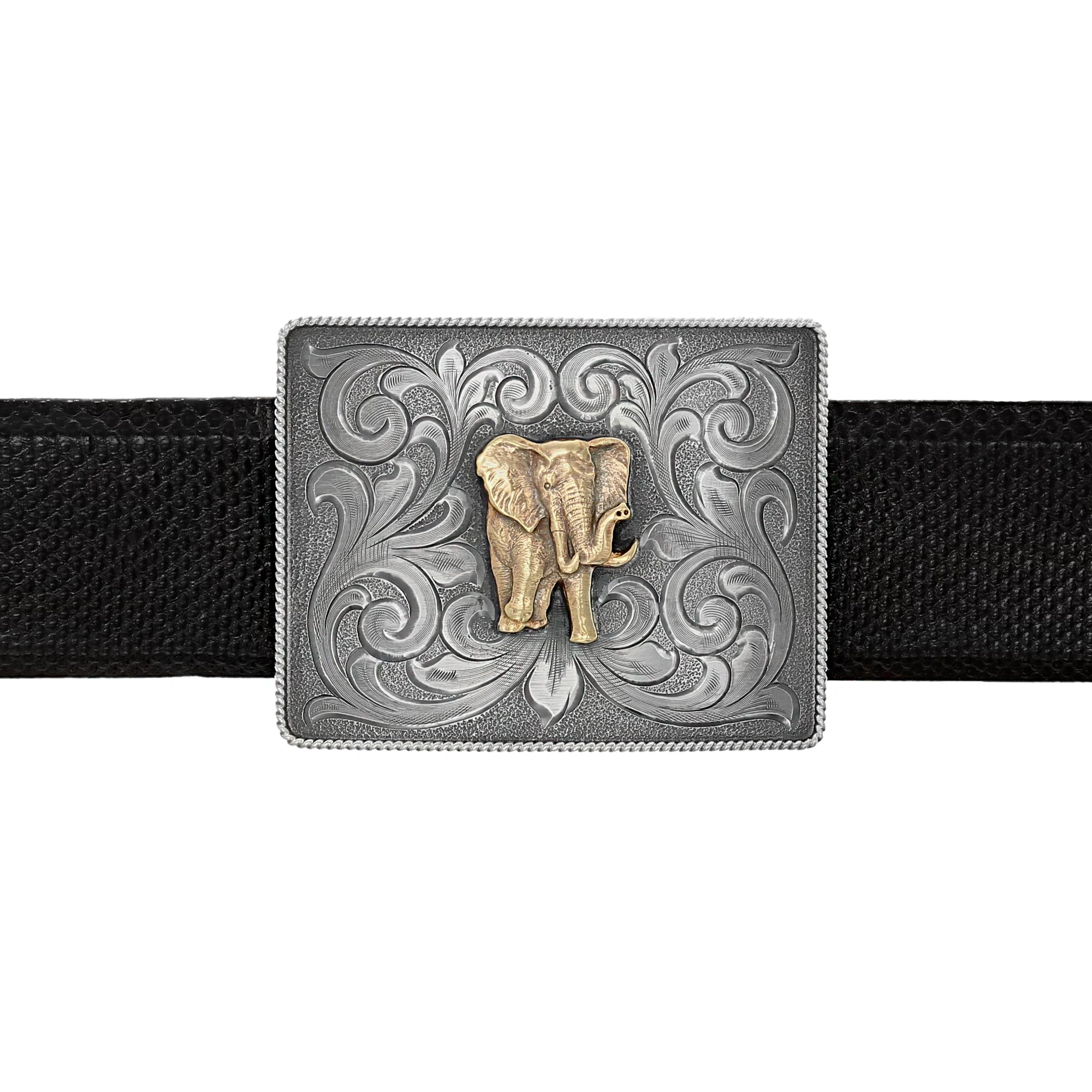 Tara 1815 Gold Elephant Trophy Buckle