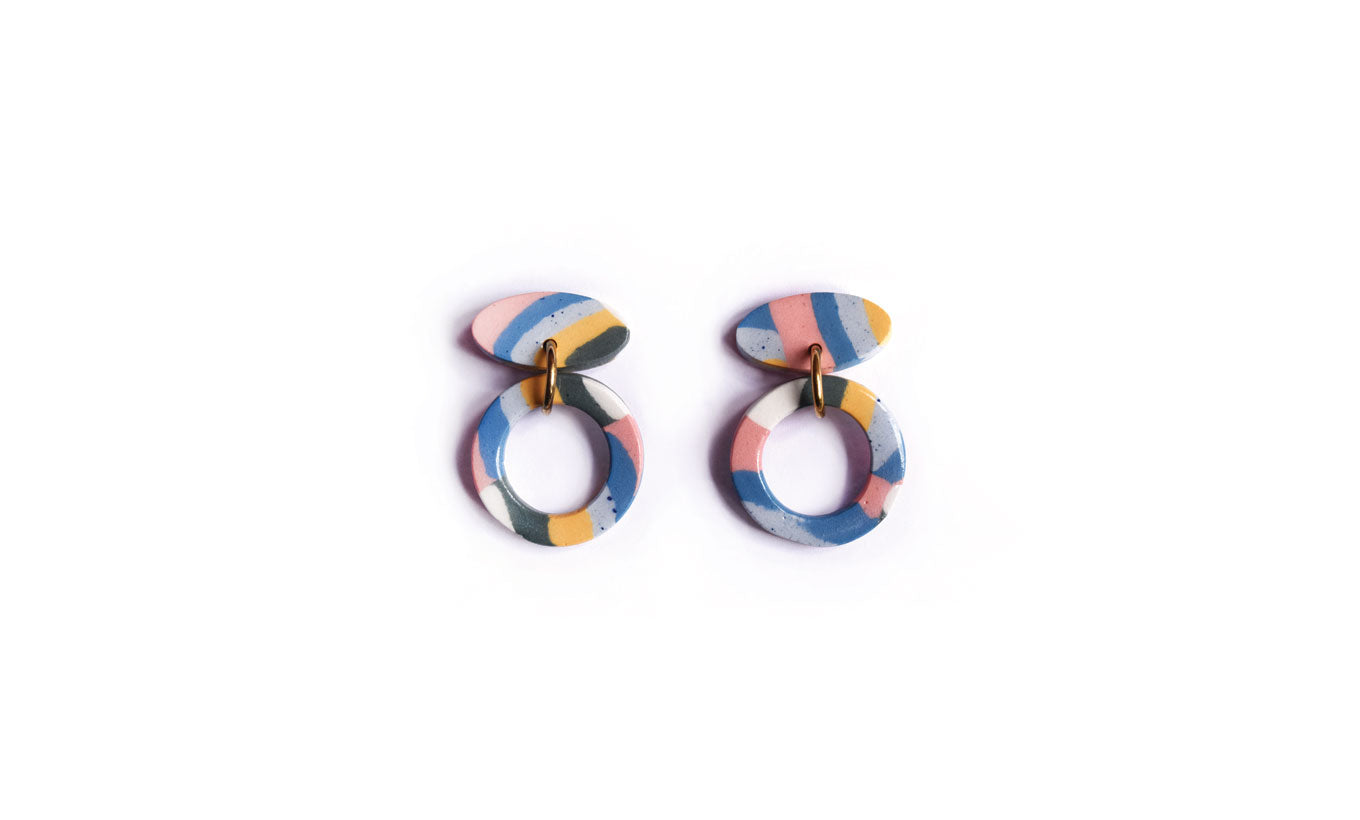 Aliyah Hussain Strata Oval Earrings