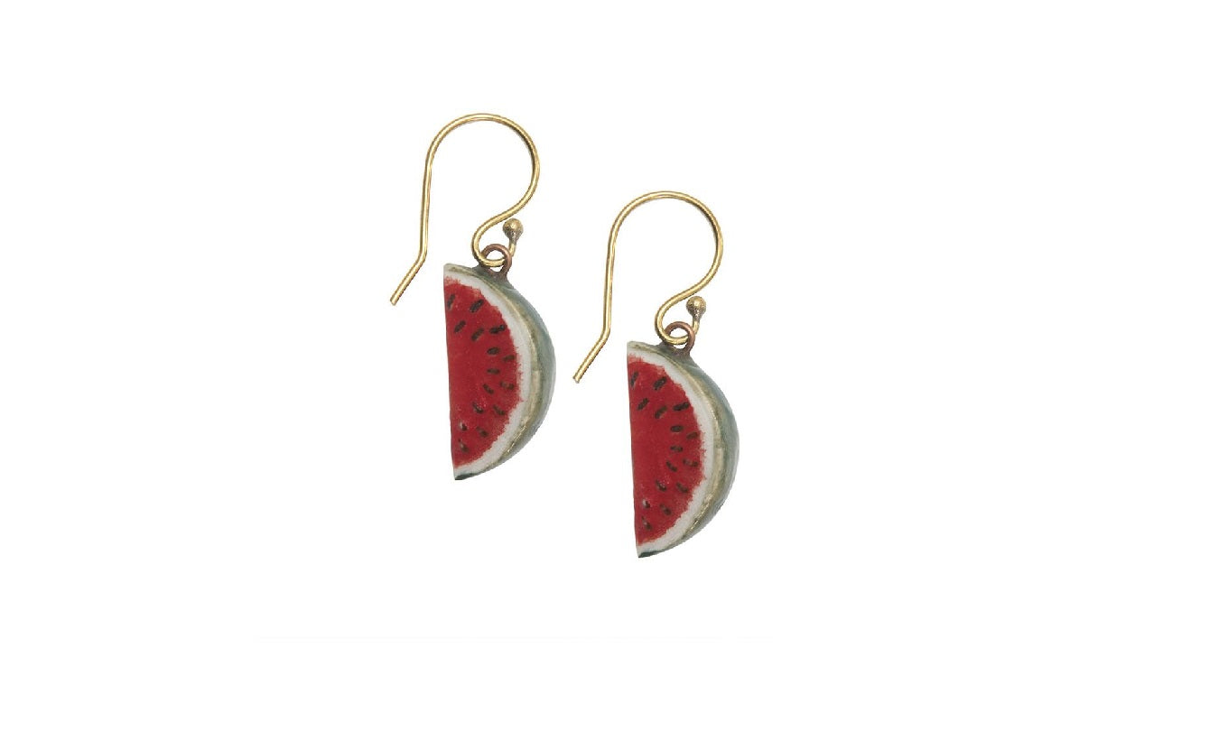 And Mary Watermelon Earrings