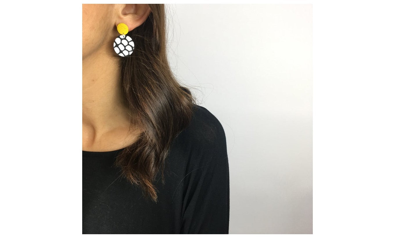 Nadege Honey Design 'Signature' Yellow Earrings
