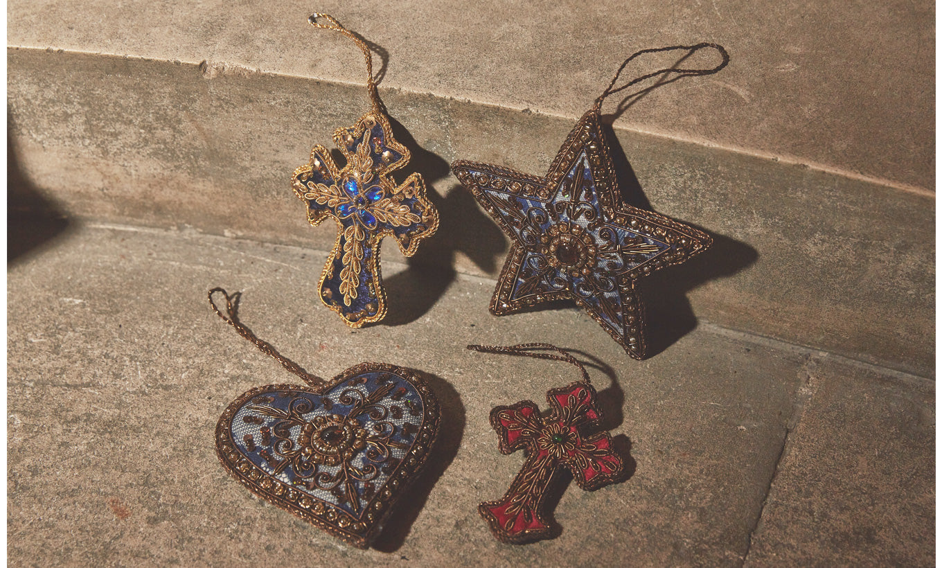 Ornate Star Christmas Decoration