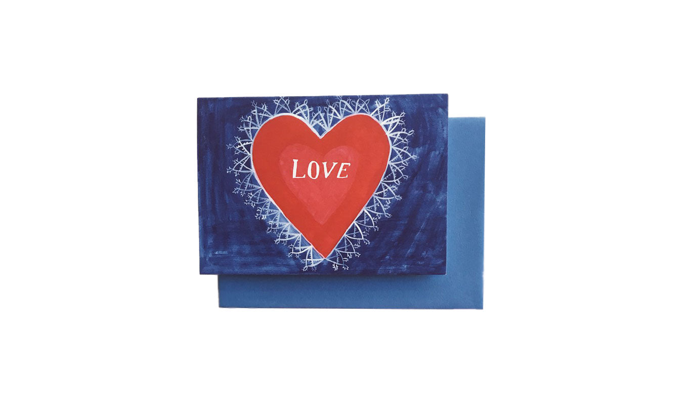 Love Heart Greetings Card