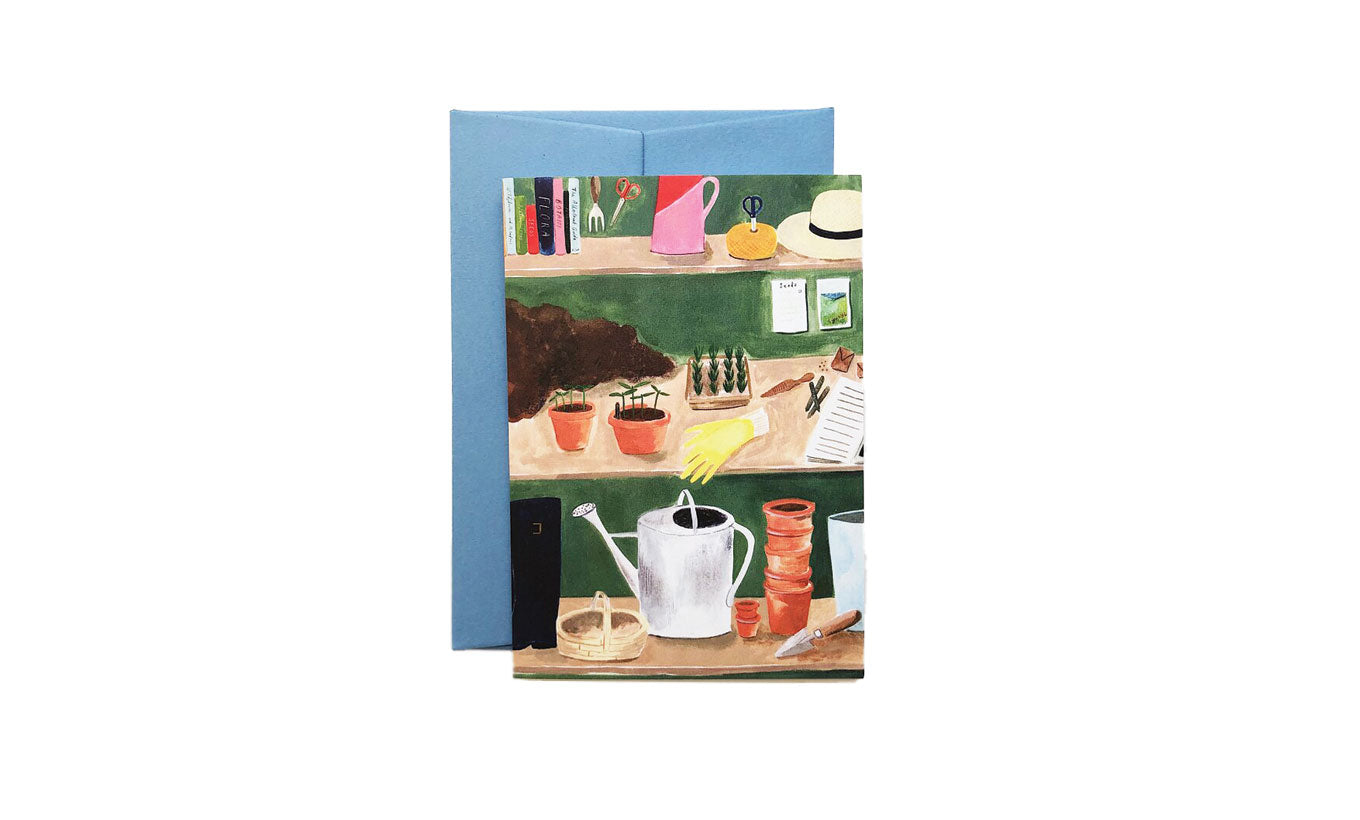 Potting Shed Greetings Card
