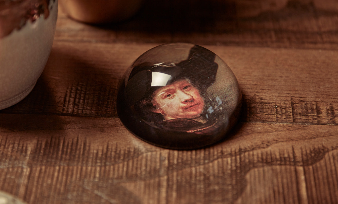 Rembrandt Glass Paperweight