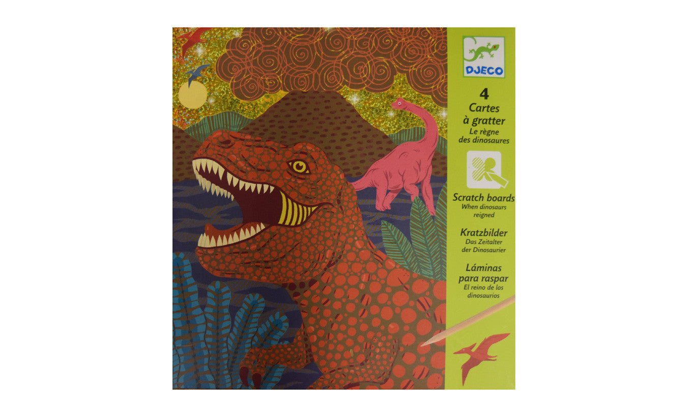 Dinosaur Scratch Board Kit