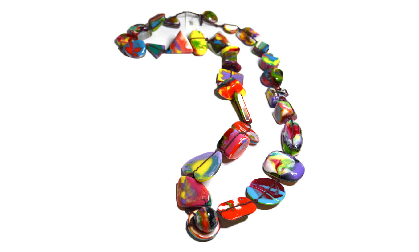Jackie Brazil Kandinsky Long Bead Necklace